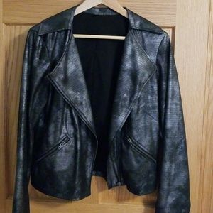 Women's Jockey Metallic Phyton Glam Biker Jacket